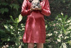 A Homo Sapiens with A Silver Skull