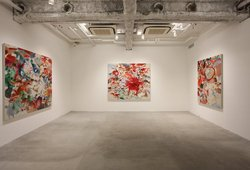 """Myriad of 'paste'"" Installation View"