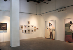 """Running Linchpin"" Installation View #1"