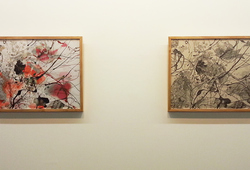 """Splash and Trace #1 & 2"" Installation view"