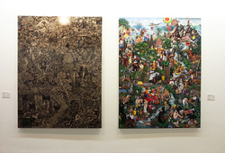 """7 Magnificent Masterpieces #1 & #2"" Installation view"