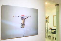 """Depiction of Contemporary Crucifixion"" Installation View"