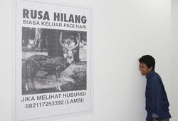 """""""Pada Suatu Hari Ada Seekor Rusa Hilang di Tebet"""" Installation view"""
