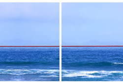 Seascape with Red Horizon After Sugimoto