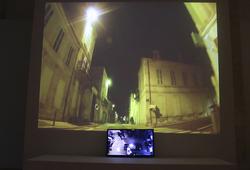 """""""Curfew"""" installation view"""