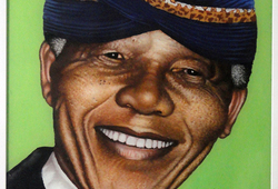 Potret Nelson Mandela
