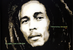 Potret Bob Marley