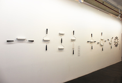 """Tools Alphabet-Paint Roller Series"" Installation view"