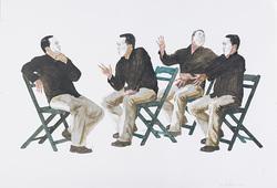 Sang Seniman Sedang Mempertimbangkan Cara Terbaik Menciptakan Karya Abad Ini