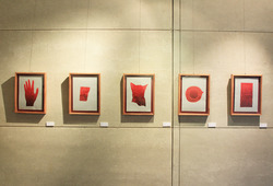 """Red Sun"" Installation View"