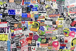 #Glued 2 - Street Sticker Party (Detail)