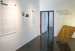 "Exhibition view ""Neglected Item #1"
