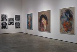 """Installation view """"Visage blanc sans visage"""" #1"""