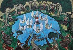 Joko Tarub Mandi di Danau, Diserang 6 Teroris, Dilindungi 7 Bidadari