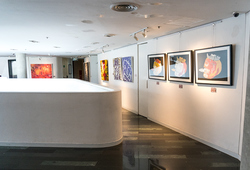 """Faces of Life"" Installation View #1"