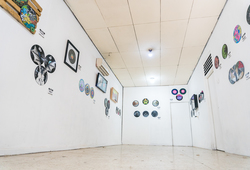 """Vinyl Attack #2"" Installation View"
