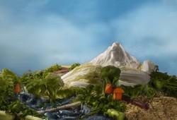 Pemandangan Gunung dan Sawah
