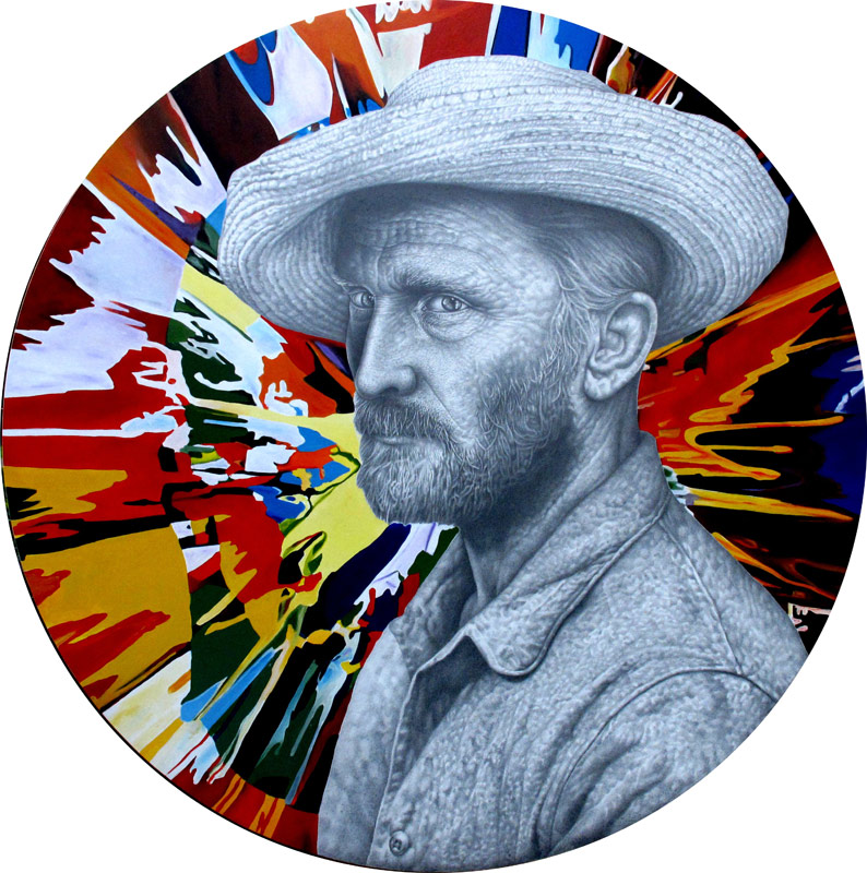 Another selfpotrait of van gogh with spin painting