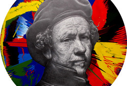 Another Selfpotrait of Rembrandt Van Rijn with Spin Painting