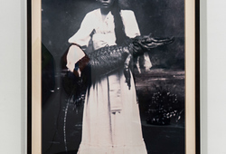 Lady with Crocodile (Mardijker Photo Studio)