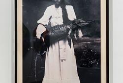 Lady with Crocodile (Mardijker Photo Studio)