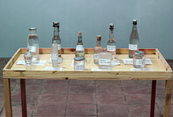 Water's exhibition installation