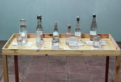 Water's exhibition installation