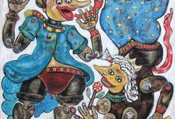 Pinocchio Meets Wayang Wadon (Pinocchio Meets Female Puppet)