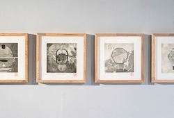 Etching Aquatint Series Installation View