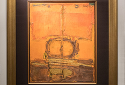 Untitled (Orange with Gold)