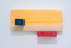 Three Blocks of Wood in Primary Colour