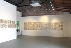 """The Graphite, Dust and Indian Ink of Hahan"" Installation View #1"