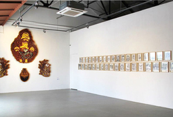 """The Graphite, Dust and Indian Ink of Hahan"" Installation View #4"