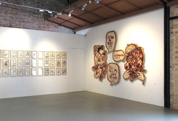 """The Graphite, Dust and Indian Ink of Hahan"" Installation View #6"