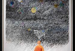 Meditation Under the Dancing Rain