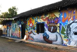 FULL HD: Tribute to OHD, 80 Nan Ampuh Mural Installation View #2