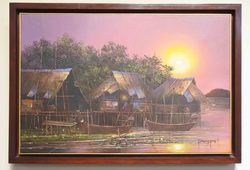 Kampung Nelayan Saat Senja