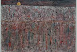Bulan Mas di Langit Jingga