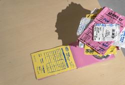 Paper Holder Spike Stick & Receipts (Detail View)