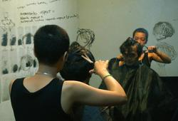 Alfi's Hair Carving at Teater Garasi