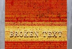 Broken text 2011