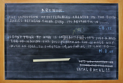 Footnote #2 (Black Board Painting)