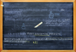 Footnote #3 (Black Board Painting)