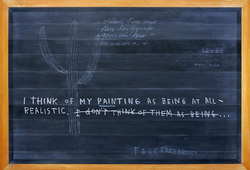 Footnote #1 (Black Board Painting)