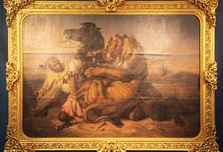 Penunggang Kuda Arab Diterkam Singa