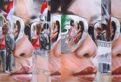 Red White Mirror Effect